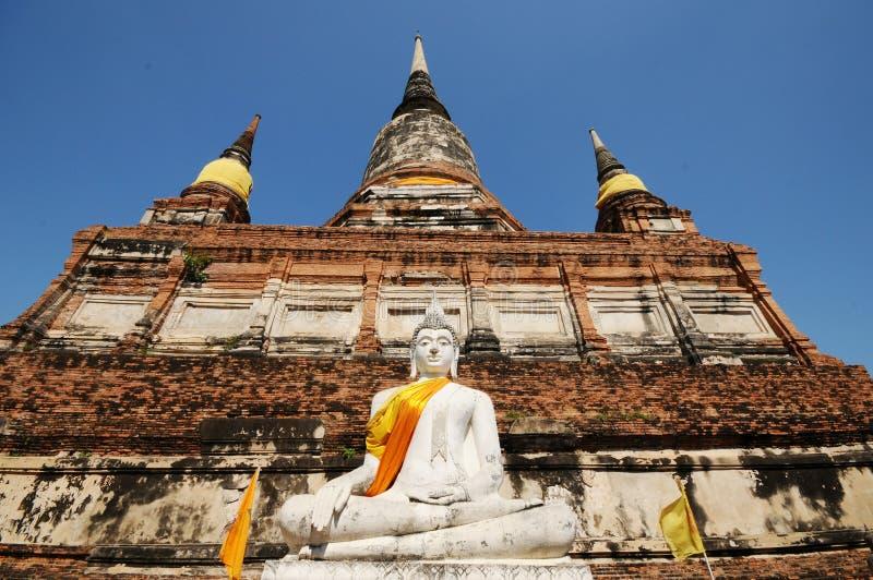 Wat Yai Chaimongkol, Ayutthaya, Таиланд стоковые изображения
