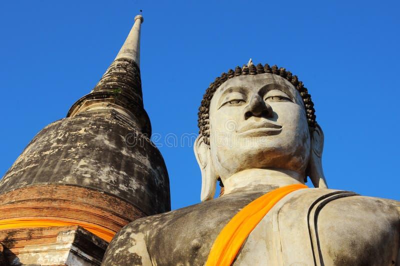 Wat Yai Chaimongkol, Ayutthaya, Таиланд стоковая фотография