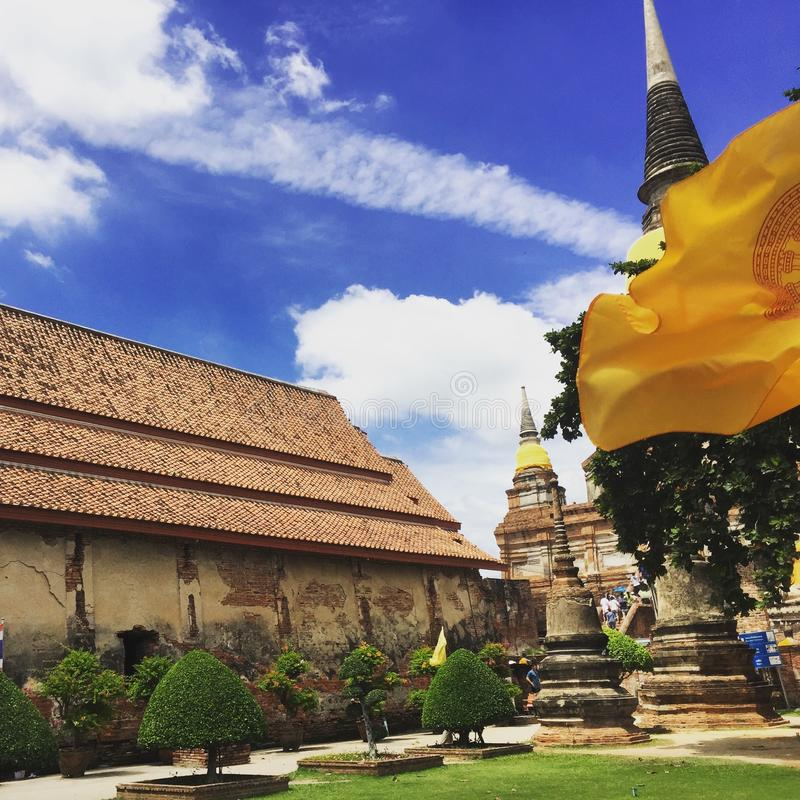 Wat Yai Chaimongkol  Ayutthaya Таиланд стоковое изображение