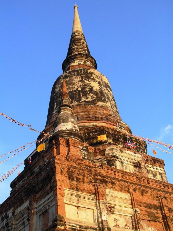 Wat Yai Chaimongkol  Ayutthaya Tailandia fotografia stock