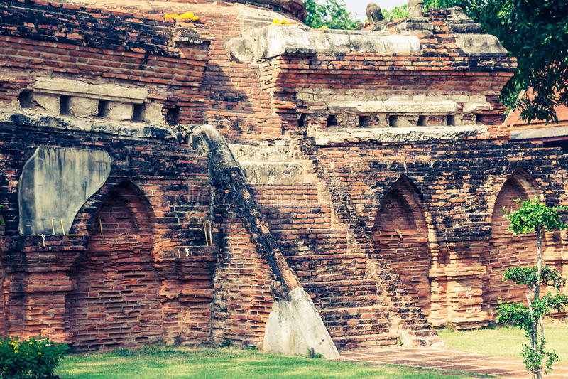 Wat Yai Chaimongkol-tempel in ayutthaya Thailand stock fotografie
