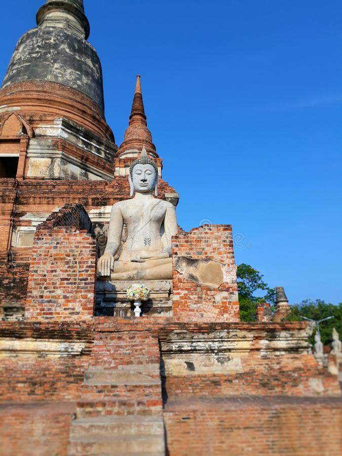 Wat Yai Chimongkol namngav förr 'Wat Pa Keaw ', arkivfoto