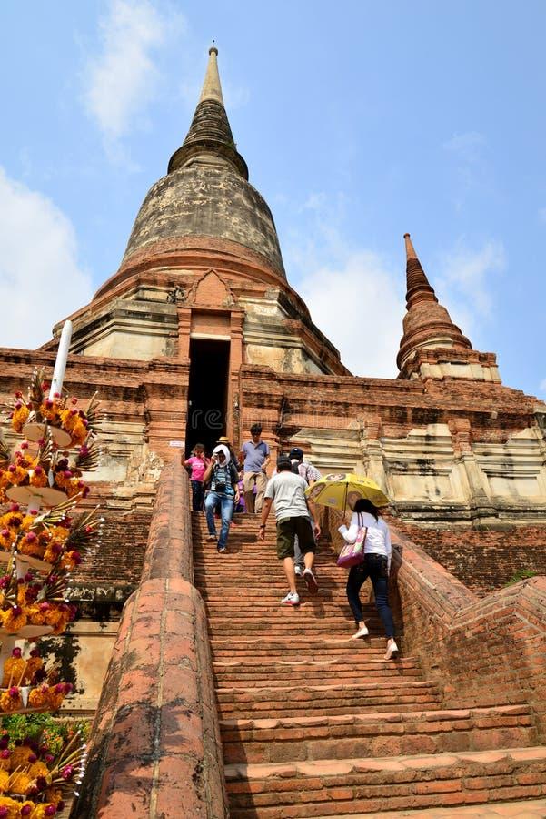 Wat Yaichaimongkol royaltyfria bilder
