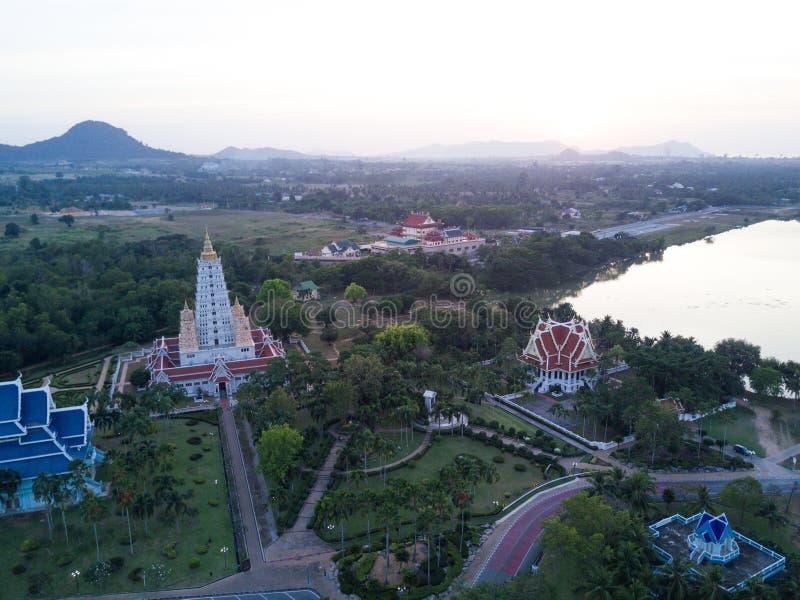 Wat Yannasang Wararam Buddhist Temple bij Pattaya-stad stock foto's