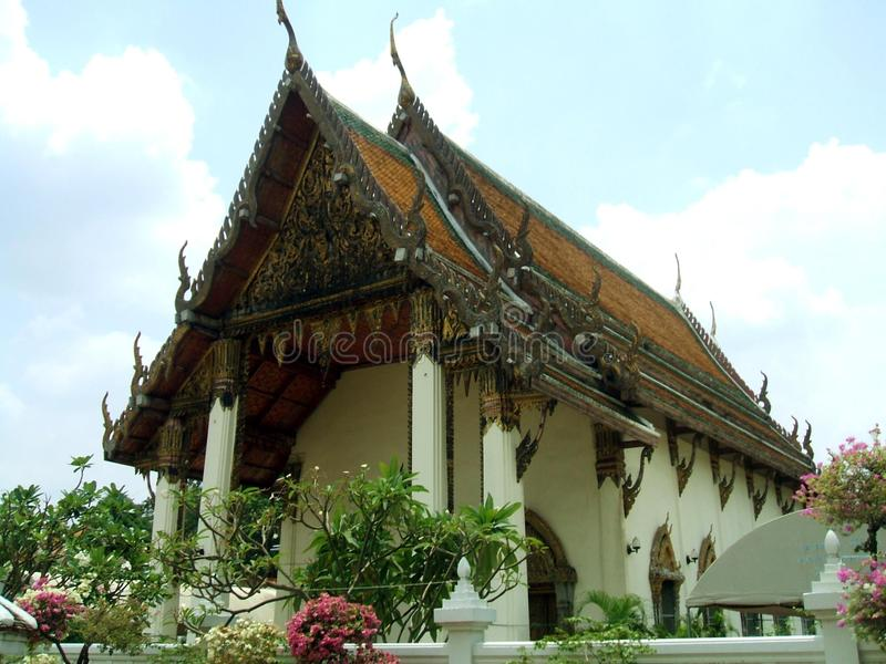Wat Yannawa i det Sathon området av Bangkok, Thailand royaltyfri fotografi