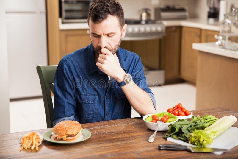 Wat zou ik moeten eten? stock foto's