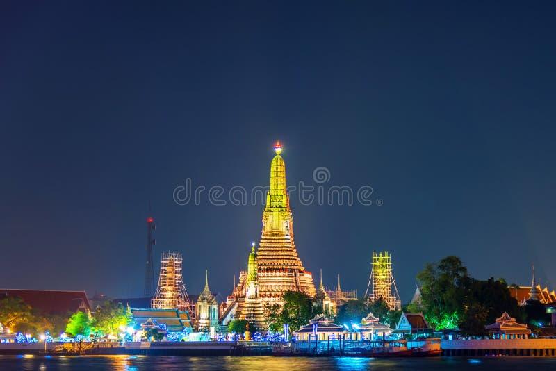 Wata arun, punkt zwrotny świątynia w Bnagkok także wezwania świątyni świt zdjęcie stock