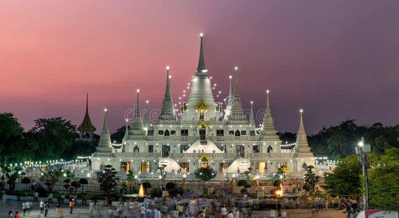 Wata asokaram świątynia w Samut Prakan, Tajlandia fotografia royalty free