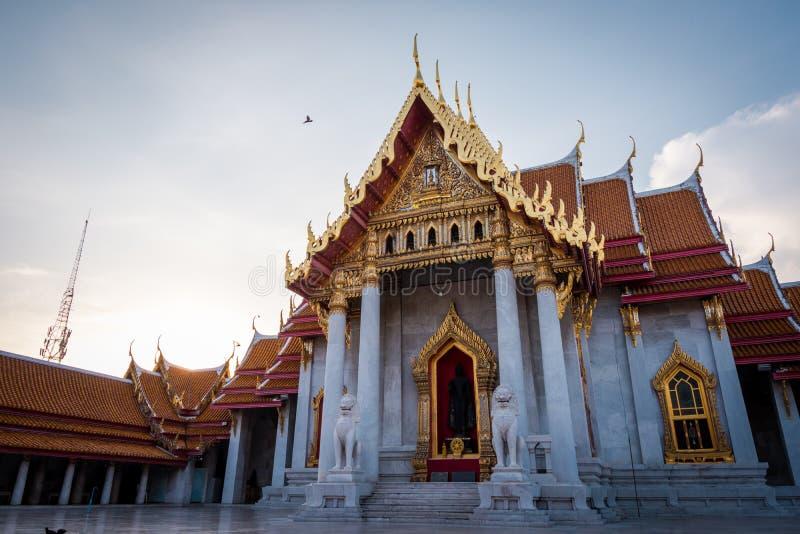 Wata Benchamabophit marmuru ?wi?tynia w Bangkok, Tajlandia fotografia stock