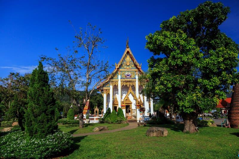 Wata Chalong świątynia przy słonecznym dniem Phuket Tajlandia obrazy stock