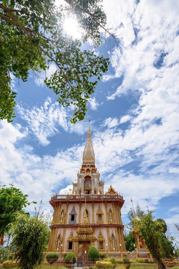 Wata Chalong lub Wata Chaitaram świątynia obrazy royalty free