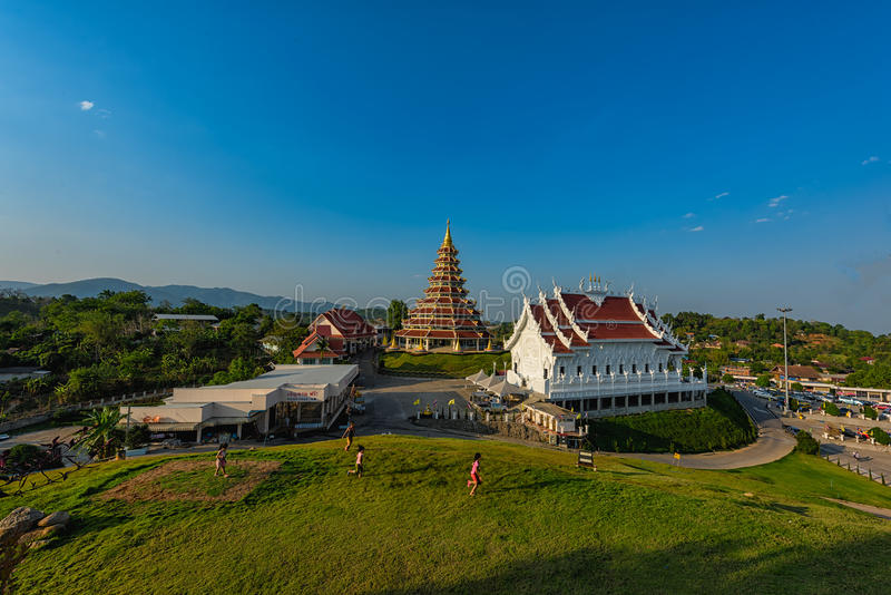 Wata Huai śliwki KungTemplein Chiang Raja, Tajlandia zdjęcie stock