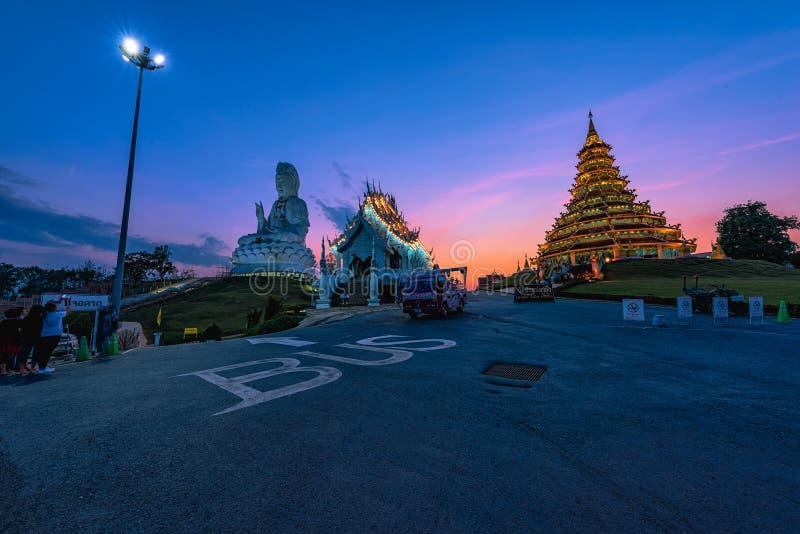 Wata Huai śliwki KungTemplein Chiang Raja, Tajlandia fotografia royalty free