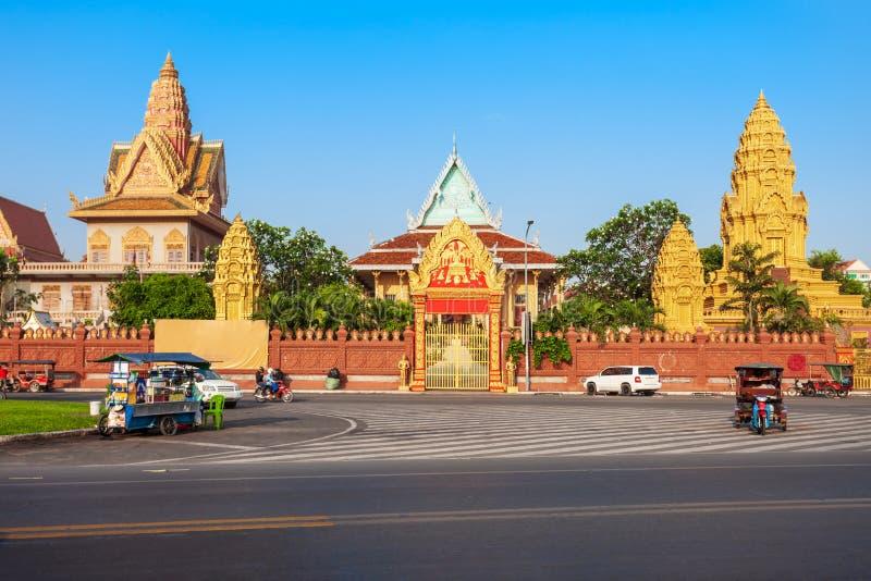 Wata Ounalom świątynia, Phnom Penh fotografia royalty free