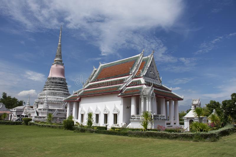 Wata Phra Samut Chedi świątynia w Samut Prakan, Tajlandia fotografia royalty free