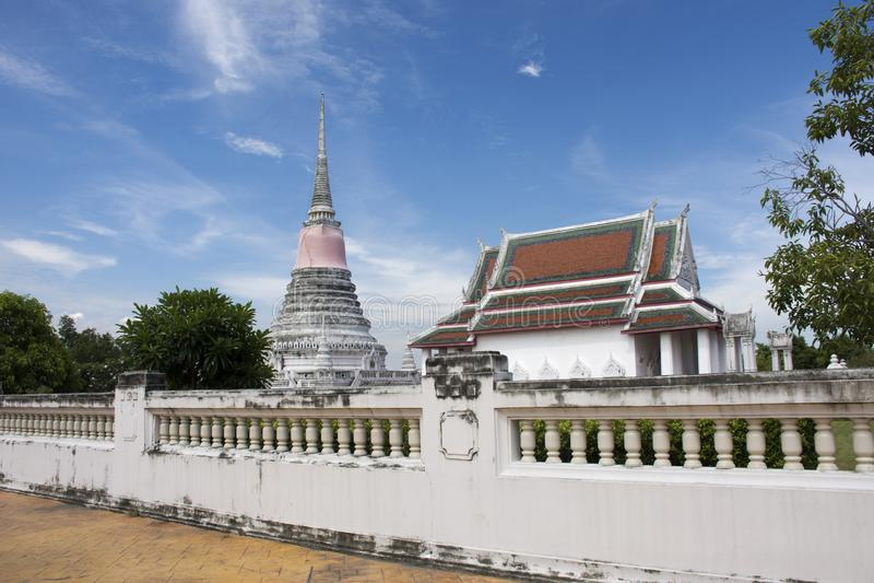 Wata Phra Samut Chedi świątynia w Samut Prakan, Tajlandia zdjęcie royalty free