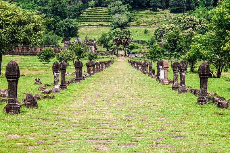 Wata Phu Champasak świątynia fotografia royalty free