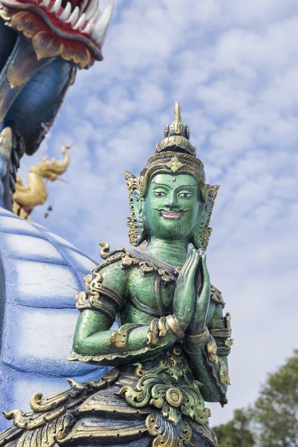 Wata Rong Sua Dziesięć Chiang raja Thailand fotografia royalty free