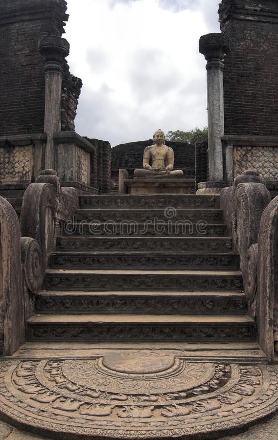 watadage för lankapolonnaruwasri royaltyfria bilder