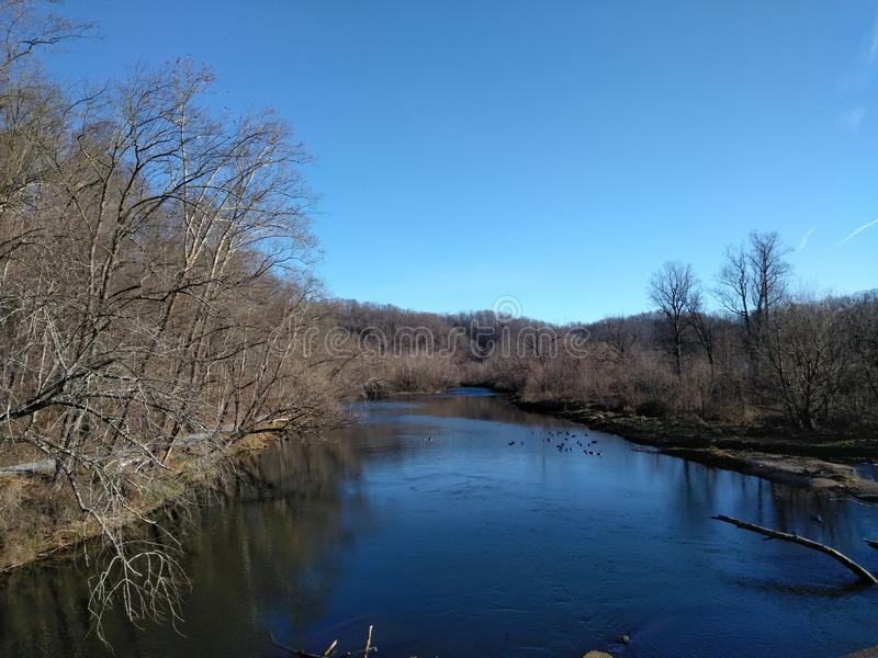 Watauga-Fluss lizenzfreies stockfoto