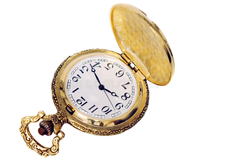 Watch. Isolated watch image on the white background stock photos