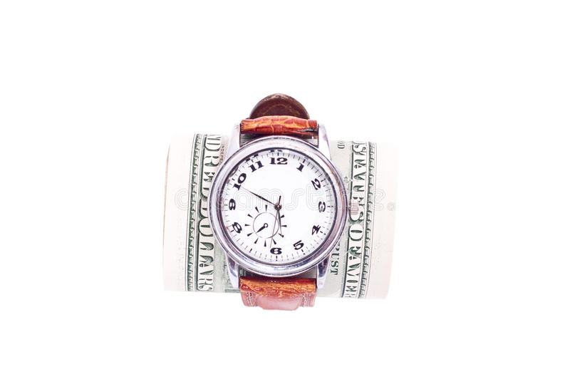 Watch And Dollars Royalty Free Stock Photo
