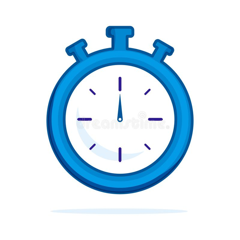 Watch flat icon. Single high quality outline symbol of fitness for web design or mobile app. Thin line signs of stopwatch for royalty free illustration