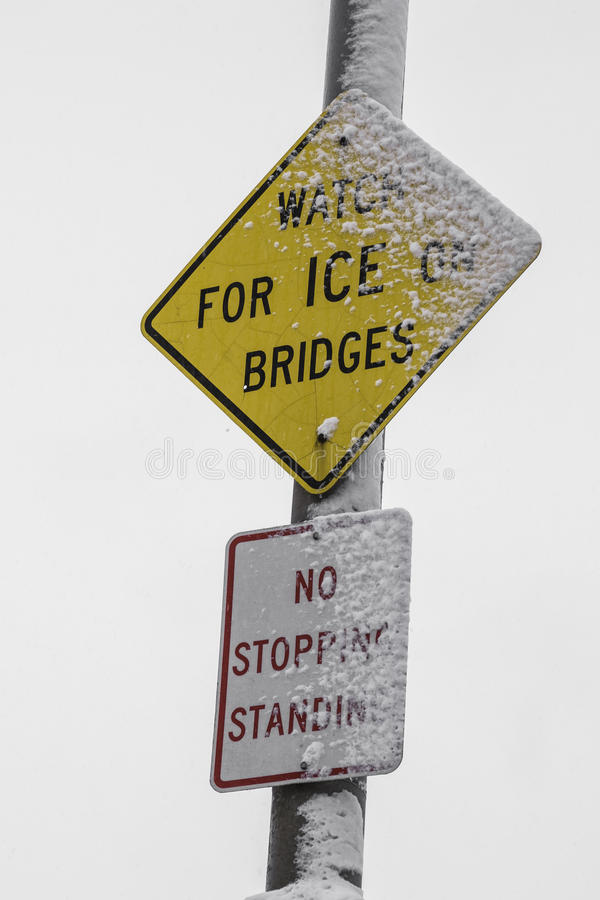 Free Watch For Ice Sign. Stock Image - 49808691