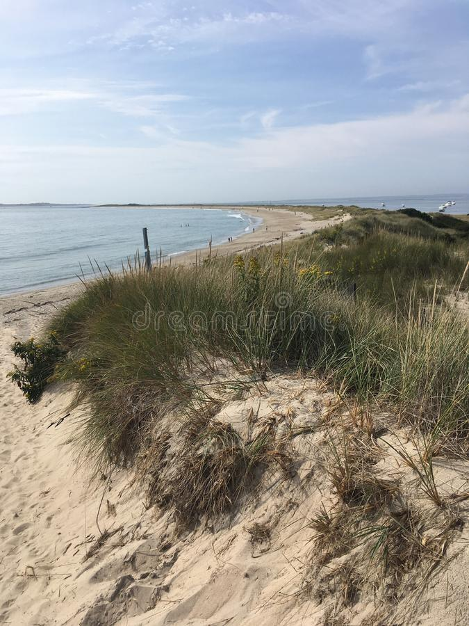 Watch Hill in Westerly, Rhode Island. Sand dunes in Watch Hill, the affluent part of Westerly, Rhode Island stock photography