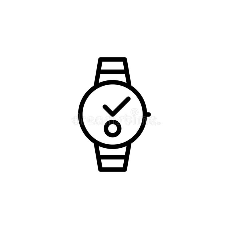 watch icon. Simple thin line, outline vector of Time icons for UI and UX, website or mobile application royalty free illustration
