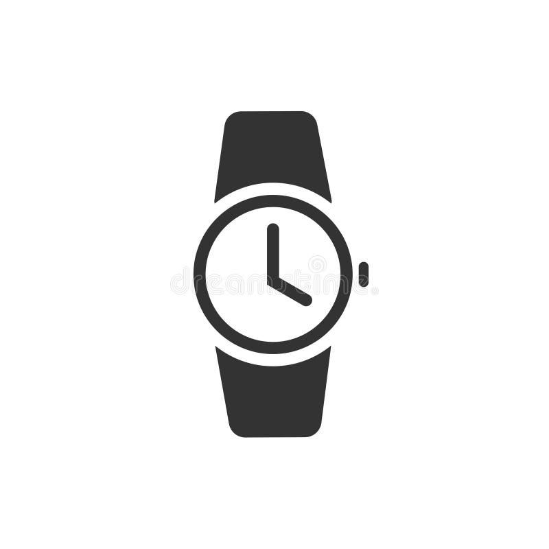 watch icon vector illustratio black wristwatch pictogram symbol rh dreamstime com vector watch app vector watch app