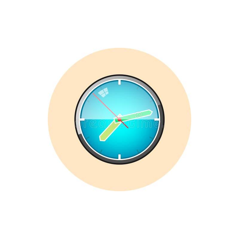 Watch icon, wall clock icon, vector illustration. Colorful round icon watch , wall clock icon, vector illustration royalty free illustration