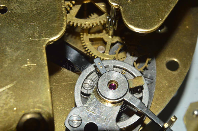 Watch from the inside. The watch can be seen from the inside wheel balancing stock photos