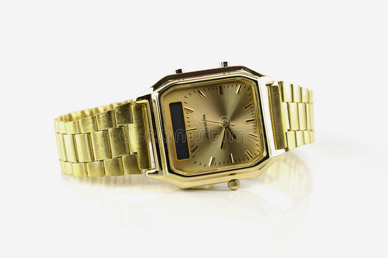 Watch isolated on a white background.  royalty free stock image