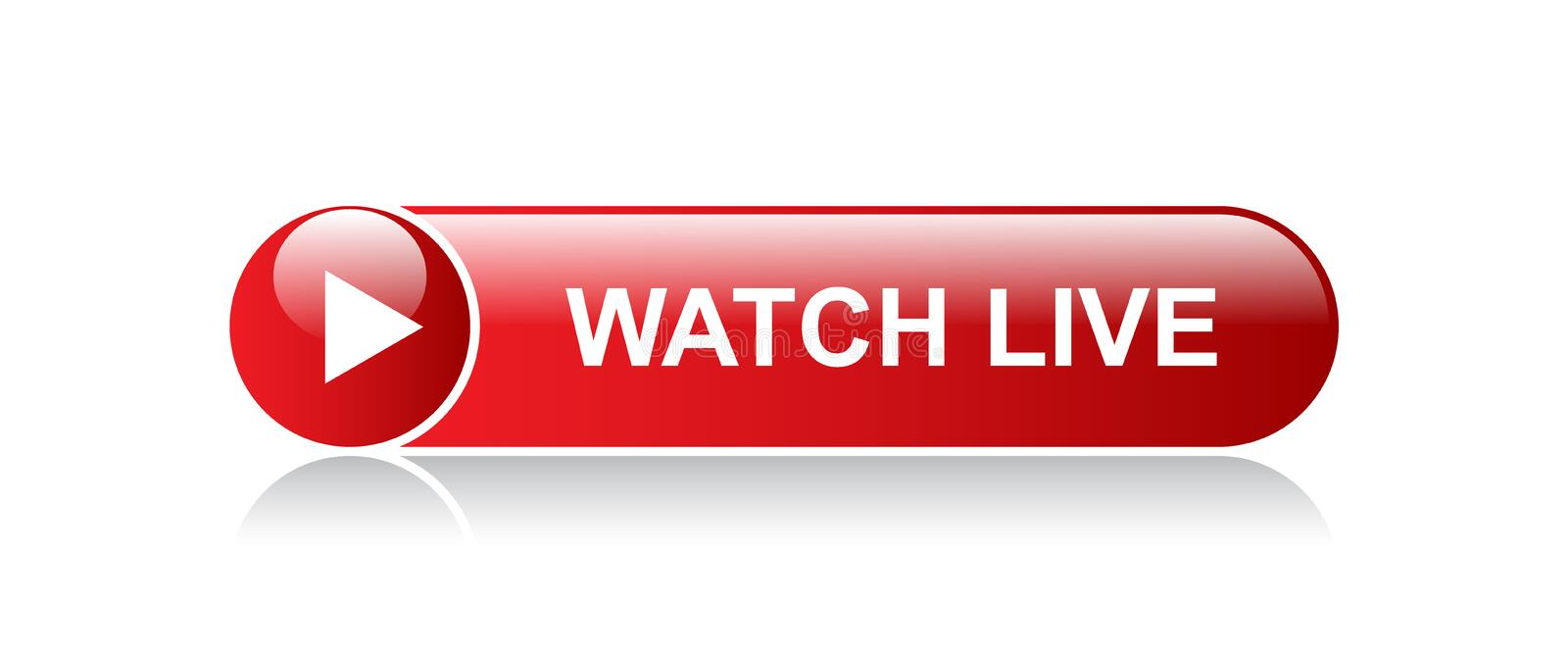 Live streaming button stock illustration. Illustration of game - 122343158