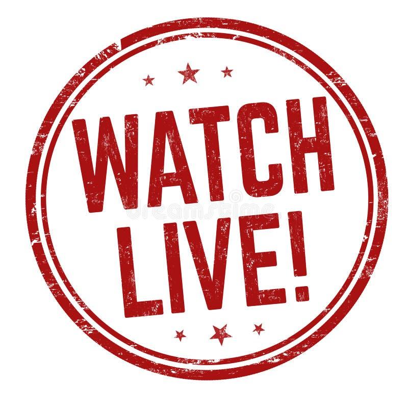 Watch live sign or stamp. On white background, vector illustration vector illustration