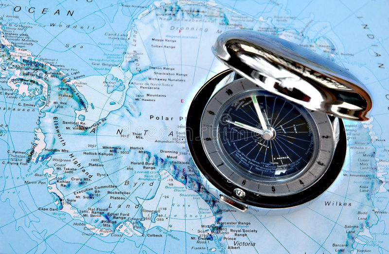 Download Watch On Map 1 Royalty Free Stock Photography - Image: 104977