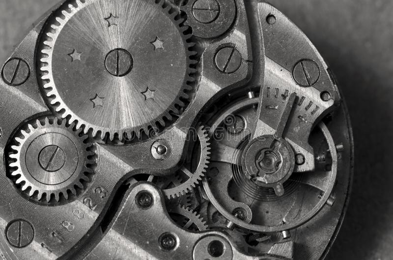 Watch mechanism macro royalty free stock photos