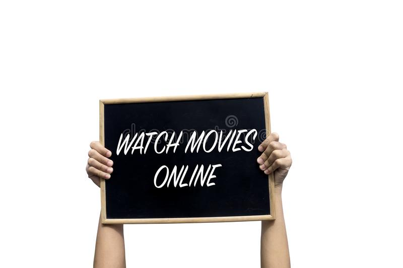 Watch Movies Online on chalkboard royalty free stock photos