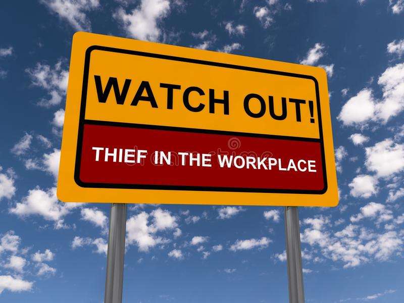 Watch out, thief royalty free stock photos