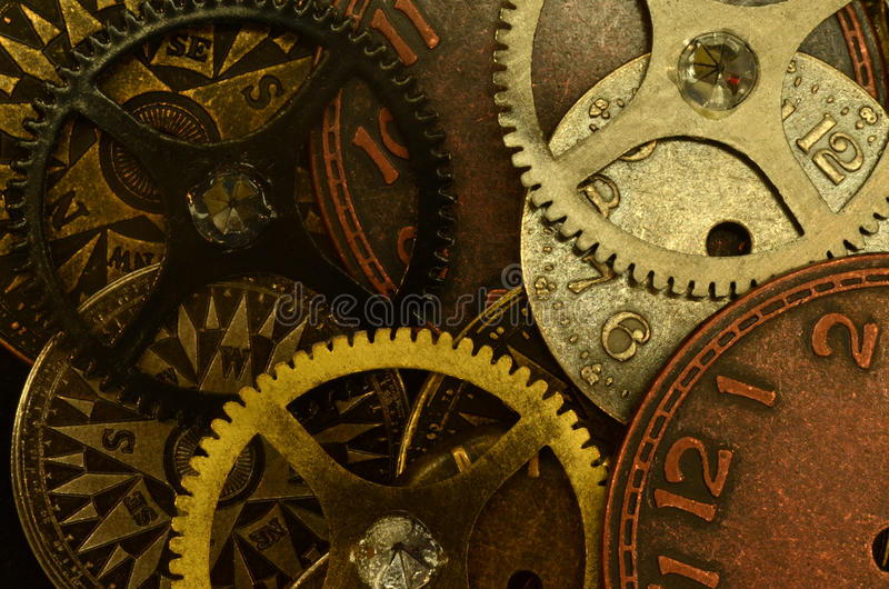 Watch parts stock image