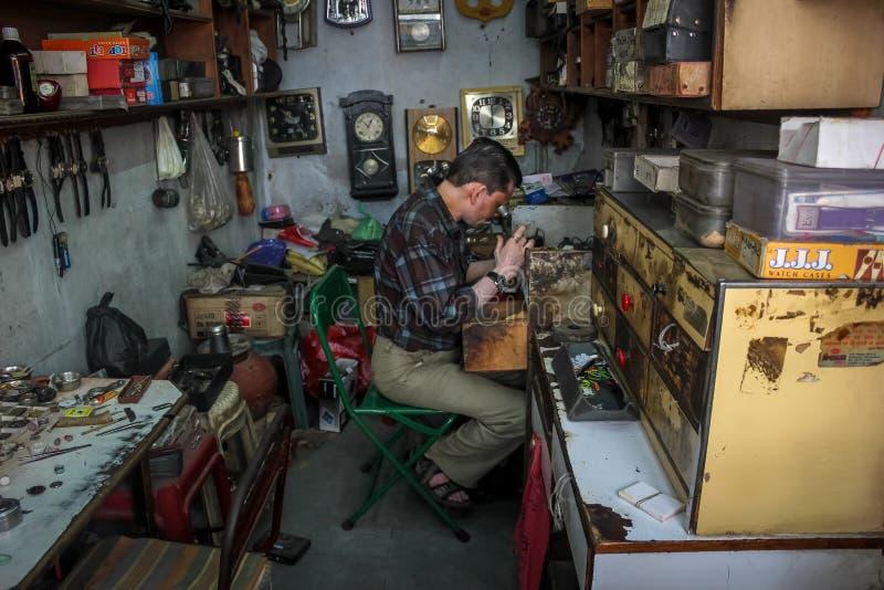 Watch repairing royalty free stock photos
