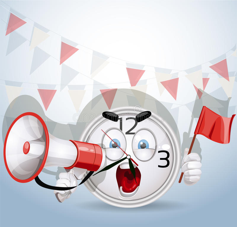Download Watch Smile Shouting Through A Megaphone Stock Vector - Illustration: 26171390