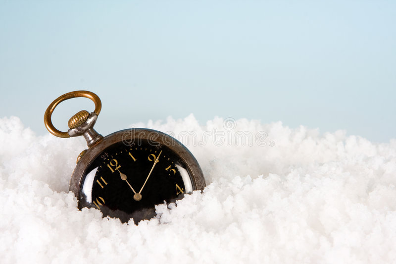 Watch In The Snow Stock Image