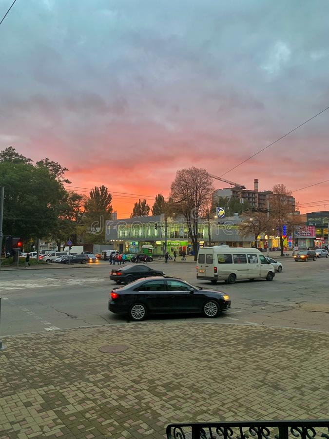 Sunsets in Ukraine royalty free stock photos
