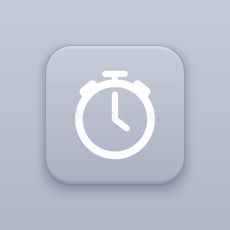Watch, Time button, best vector. On a gray background royalty free illustration