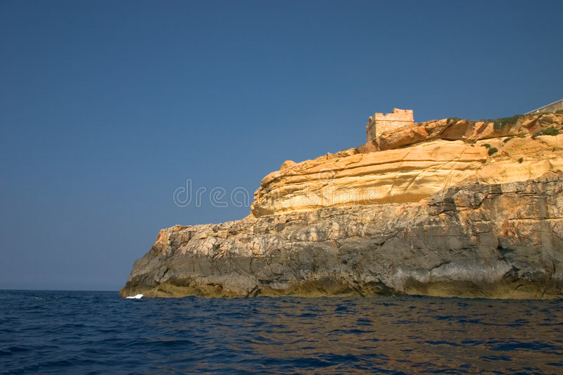Download Watch Tower stock photo. Image of coast, rock, building - 232572
