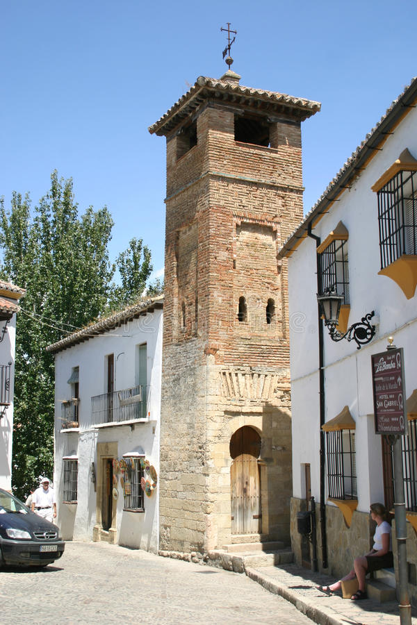 Watch tower. A Watch tower in the back streets of Ronda stock photography