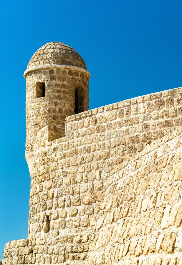 Watch Tower at Bahrain Fort. A UNESCO World Heritage Site. In the Persian Gulf royalty free stock photo