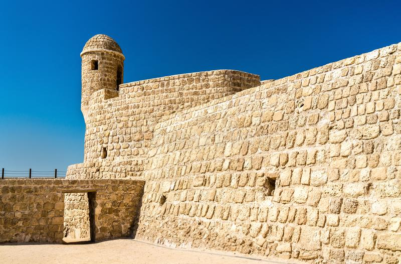 Watch Tower at Bahrain Fort. A UNESCO World Heritage Site. In the Persian Gulf royalty free stock images
